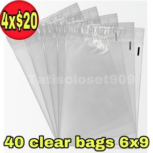 40 Clear storage self seal poly bags size 6x9